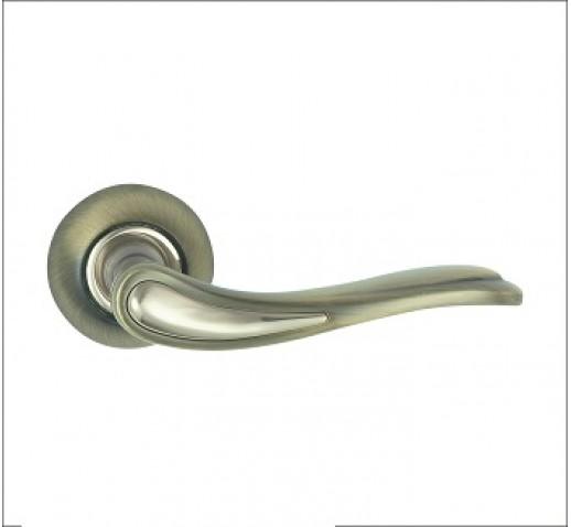 Ручка дверная R 400 AB/CP бронза/хром MSM