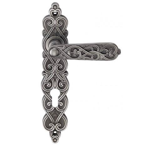 Ручка дверная ARABESCO S. GOLD (CL) мат.зол. под ключ. цилиндр 513077