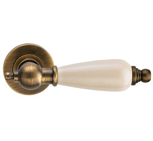 Ручка дверная REDONDO ANT. COFFEE ант.кофе/керамика слон. кость 513071