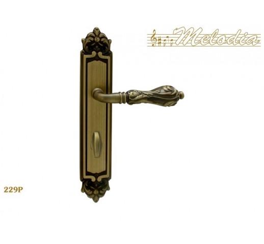 MELODIA Ручка на пластине LIBRA 229 Wc мат/бр MAB