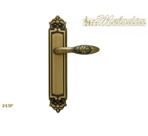 MELODIA Ручка на пластине 243 Pass мат/бронза MAB
