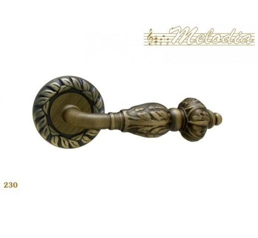 MELODIA Ручка на розетке GEMINI 60мм 230 MAB