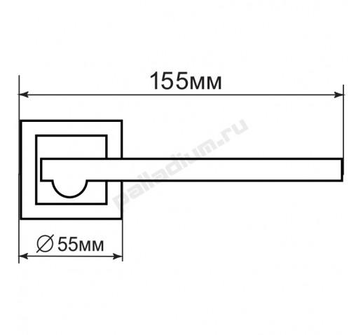PALLADIUM Ручка OSCAR SN/CP УТ-00000075