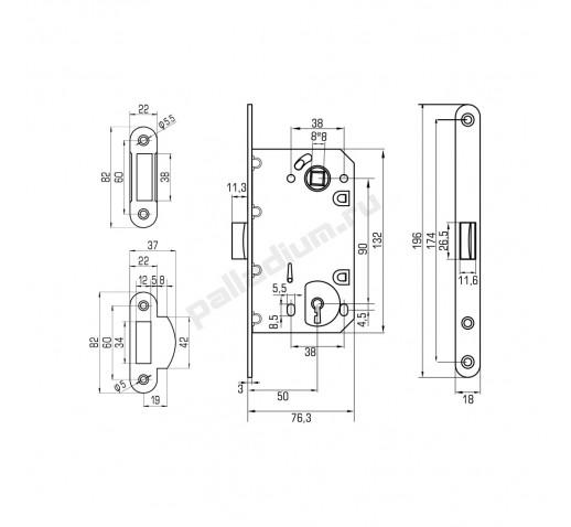 PALLADIUM Корпус замка 600 cylinder hole SN 00011903