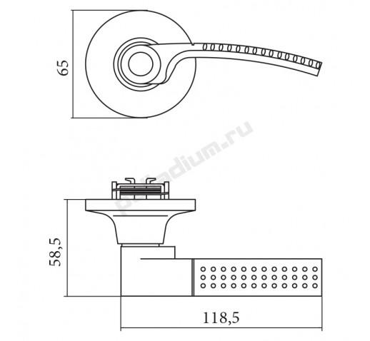 PALLADIUM Защелка 3903 AB BK (24) бронза фиксатор