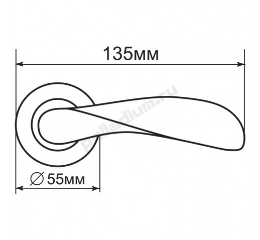 PALLADIUM Ручка DOMINO SG/GP 00009384