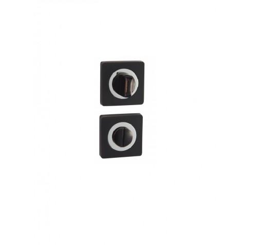 V Накладки санузловые BK 02 BL/CP (черный/хром