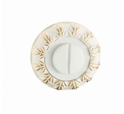 V Накладки санузловые BK 10 WG (белый/золото)