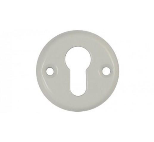 Ключевина под цилиндр окраш. в белый цвет (55мм)