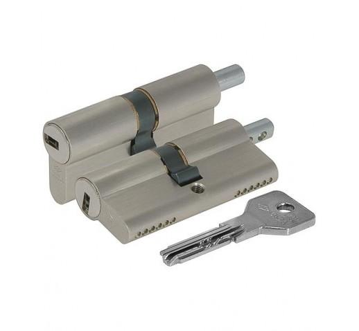 Цилиндровый механизм OE302-21.12. Asix (90мм/35х10х45) под вертушку никель