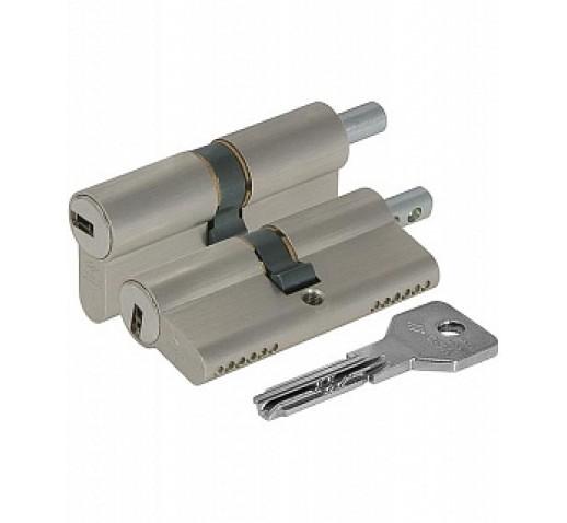 Цилиндровый механизм OE302-29.12 Asix (90мм/40+10+40) под вертушку никель