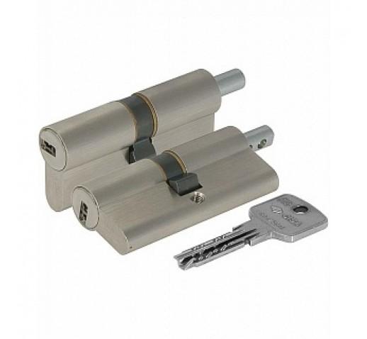 Цилиндровый механизм OA312-13.12 Astral (70мм/30+10+30) под вертушку никель CISA