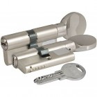 Цилиндровый механизм 164 SM 90мм (35х10х45) никель