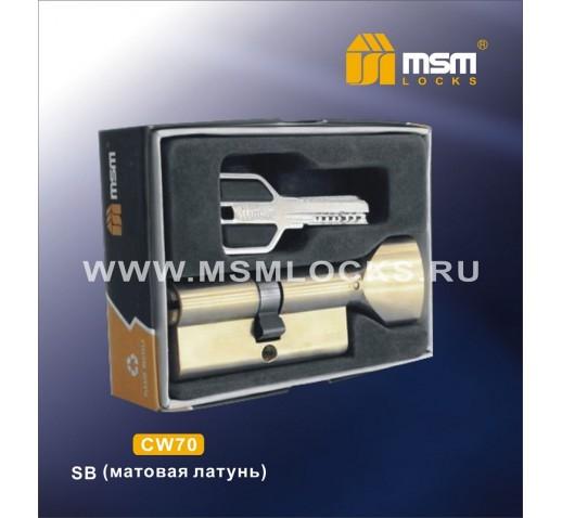 Цилиндровый механизм CW 70мм к\б 5кл. перф.SBм. зол