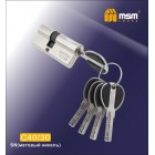 Цилиндровый механизм C 40/30мм к/к 5кл. перф. SN мат.хром MSM