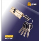 Цилиндровый механизм C 50/30мм PB золото MSM