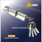 Цилиндровый механизм CW 100мм к/б 5кл. перф. SN мат. никель