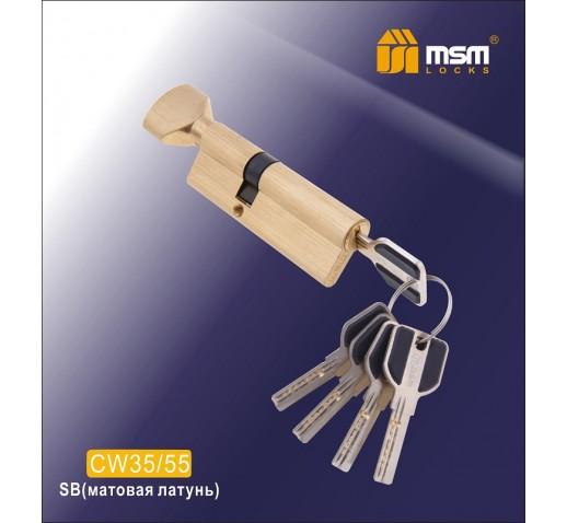 Цилиндровый механизм CW 35/55 к/б 5кл. перф. SB мат. золото