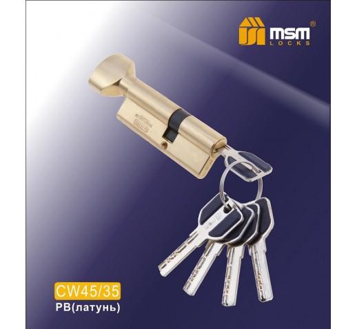 Цилиндровый механизм CW 45/35 к\б 5кл. перф. SBм.зол.