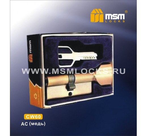 Цилиндровый механизм CW 60мм к\б 5кл. перф. AC медь