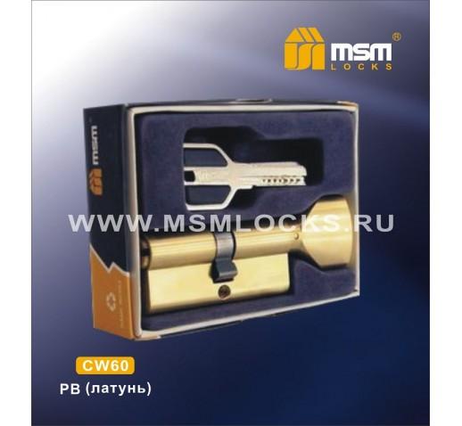 Цилиндровый механизм CW 60мм к\б 5кл. перф. PB зол.