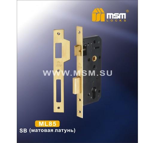 Замок врезной ML 85 SB мат.золото MSM 00000000527