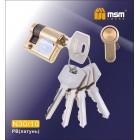 Цилиндровый механизм N 30/10мм к/к 5кл. PB золото 00000002367
