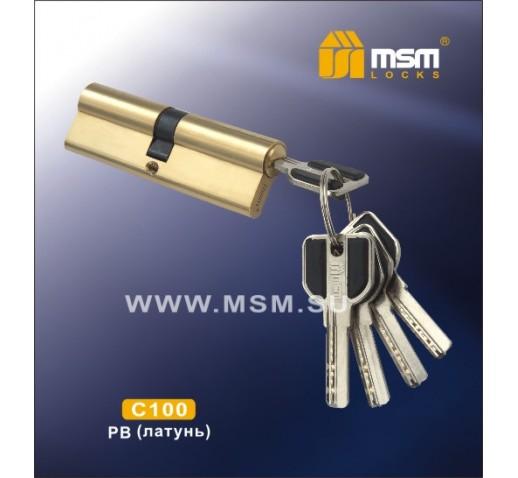 Цилиндровый механизм С 111 100мм к\к 5кл. перф. PB зол