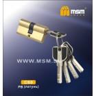 Цилиндровый механизм C 111 60мм к\к 5кл. перф. PB зол. MSM