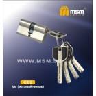 Цилиндровый механизм C 111 60мм к/к 5кл. перф. SN мат. никель MSM