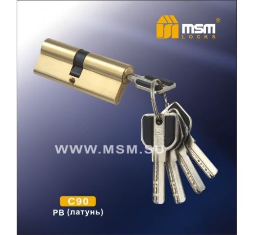 Цилиндровый механизм C 111 90мм к\к 5кл. перф. GP зол