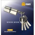 Цилиндровый механизм C 111 90мм к\к 5кл. перф. SN мат. никель