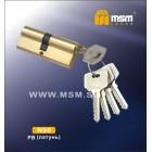 Цилиндровый механизм N 90мм к\к 5кл. SB мат. зол. MSM