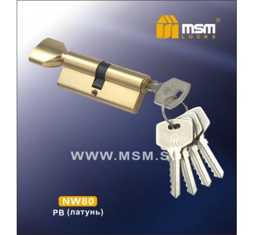 DOMAX Цилиндровый механизм NW 80 мм к/б 5 кл. PB (5080)