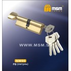 Цилиндровый механизм NW 90мм к\б 5кл. PB зол. MSM