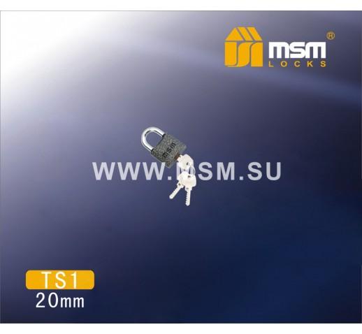 Навесной замок  TS1-30мм картон (6/36) 303